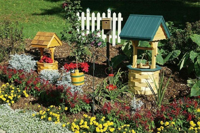 колодец декоративный для сада своими руками