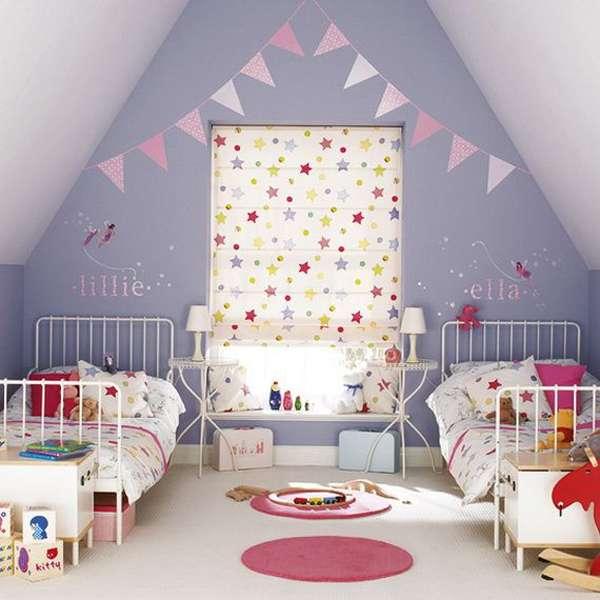 Интерьер и декор детской комнаты для двух девочек