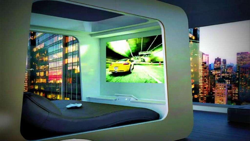 Дизайн спальни в стиле хай-тек: фото