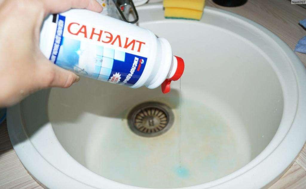 """Средство для чистки сантехники """"Санэлит"""" - кислородный гель"""