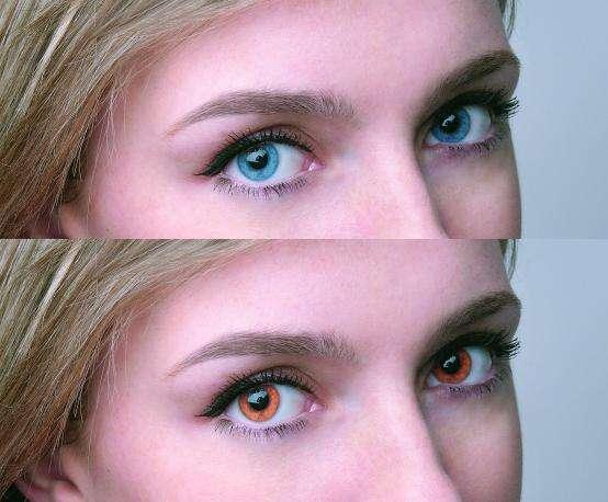 Изменение цвета глаз при помощи Photoshop